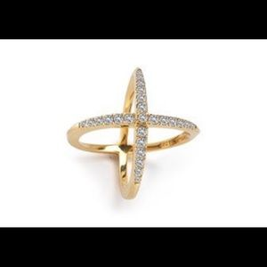 Elizabeth and James Windrose pave white X ring